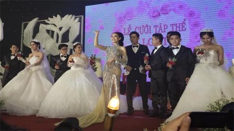 Lâm Khánh Chi ngất xỉu giữa đám cưới tập thể 10 cặp đôi LGBT