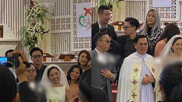 Tóc Tiên rạng ngời bên Hoàng Touliver trong lễ cưới ở Đà Lạt
