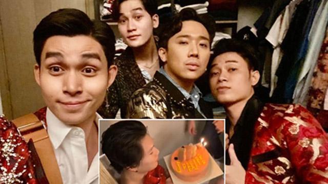 """Trấn Thành cùng hội """"Anh em cây khế"""" đột nhập nhà riêng, ép Quang Trung thổi nến sinh nhật trong nhà vệ sinh"""