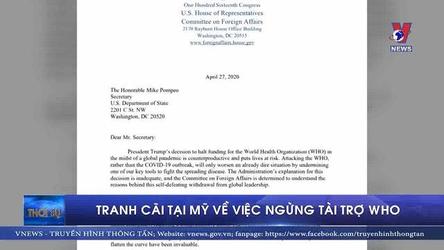 Tranh cãi tại Mỹ về việc ngừng tài trợ WHO