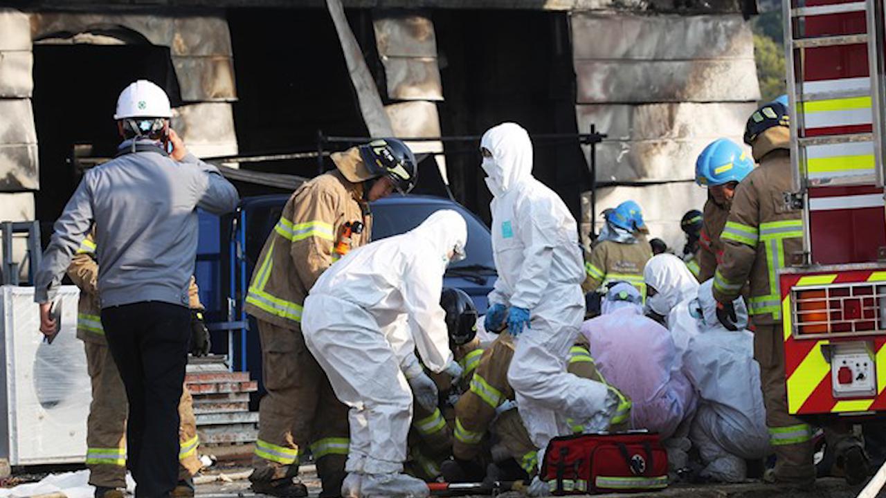 Cháy công trường xây dựng Hàn Quốc, gần 40 người chết