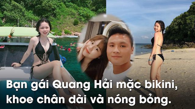 Huỳnh Anh - bạn gái của Quang Hải vừa đốn tim fans khi khoe ảnh bikini trên mạng xã hội.