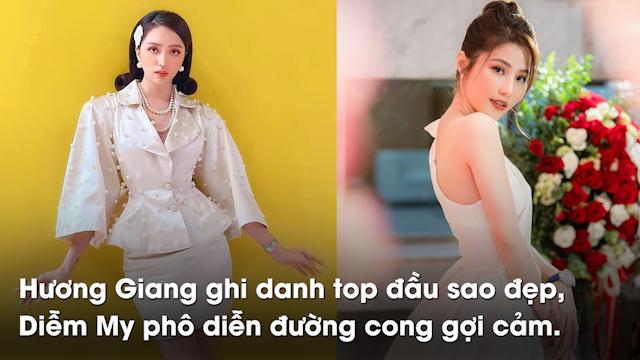 Diễm My phô diễn đường cong tuyệt mỹ, Hương Giang ghi danh top đầu sao đẹp cùng 2 bộ cánh ấn tượng